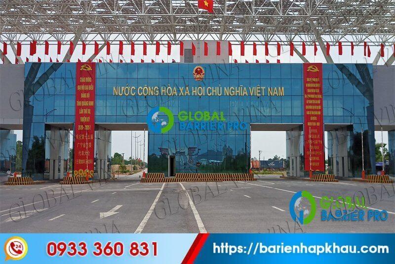 Lắp đặt barie tự động nhập khẩu chính hãng FAAC 615 tại cửa khẩu Quảng Ninh