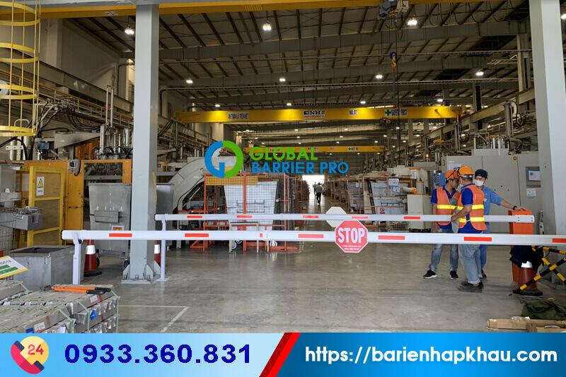 Lắp đặt barrier tự động FAAC 615 tại Long An