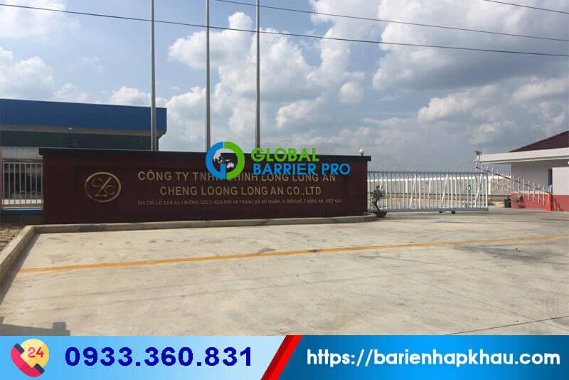 Lắp đặt thanh chắn cổng điện rào chắn barrier tự cổng nhà máy tại Long An
