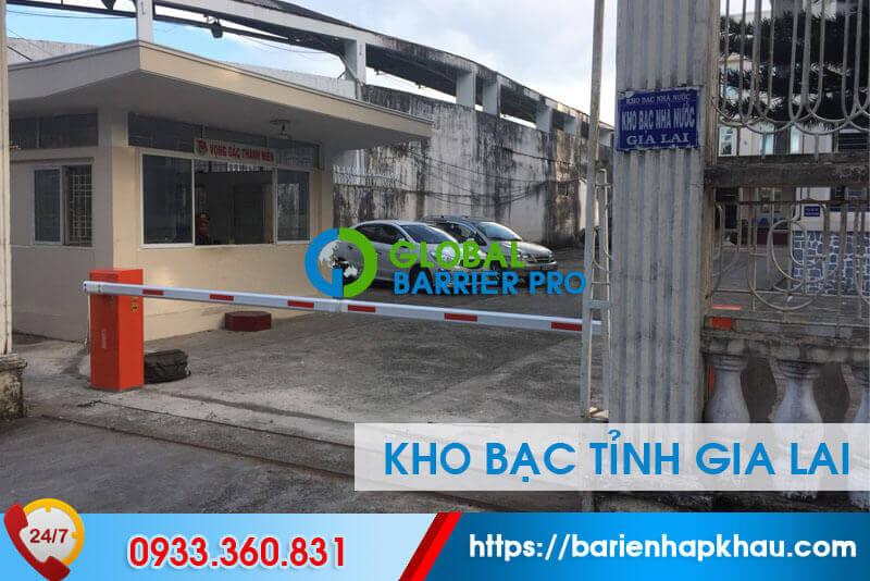 Lắp đặt 2 barie kiểm soát vào ra tại kho bạc nhà nước tỉnh Gia Lai