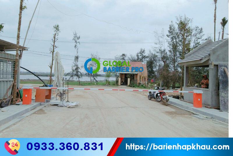 Công trinh barie tự động tại Khu đô thị Casamia, thôn Võng Nhi, xã Cẩm Thanh, TP Hội An, Quảng Nam