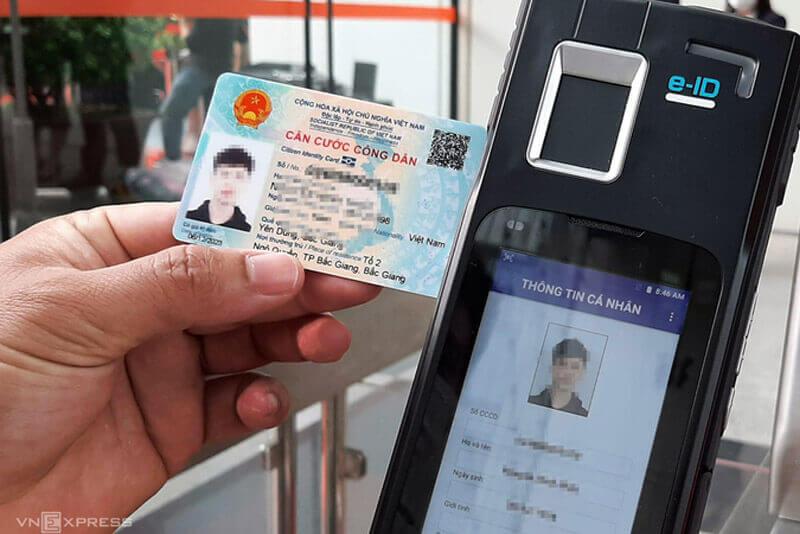 Chuyên đầu đọc chuyên dụng trích xuất thông tin thẻ căn cước công dân (Nguồn; VnExpress)